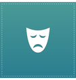 Sadness mask flat icon vector image