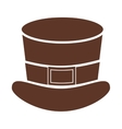 silhouette with leprechaun Hat in color brown vector image