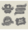 vintage hand drawn label on textured paper vector image