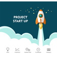 Project start up new business vector image