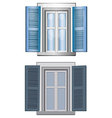 blue gray classic window pane architect model vector image