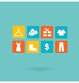 16 icons set Shopping Euro vector image