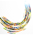 Abstract background-colorful swirl lines vector image