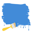 blue paint background vector image vector image