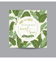 Tropical Banana Leaves Wedding Card vector image vector image