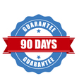 90 days guarantee stamp - warranty sign vector image