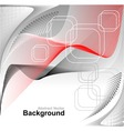 Abstract background in red grey white colors vector image