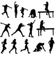 athletics silhouettes vector image