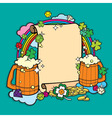 Beer party banner vector image