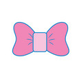 bow ribbon and fashion design icon vector image