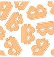 currency bitcoin symbol vector image
