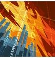 Digital cityscape vector image