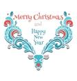elk of christmas card vector image