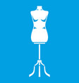 sewing mannequin icon white vector image
