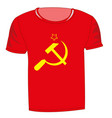 t-shirt with symbol communism vector image