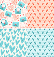 Valentines patterns vector image