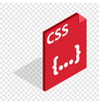 css file extension isometric icon vector image