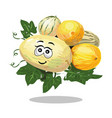 melon different types cartoon character vector image