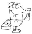 Cartoon builder vector image
