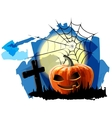 Halloween Party Background with Pumpkin vector image vector image
