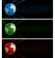 World globe banners vector image vector image