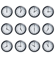 Clock set with Roman numerals timed at each hour vector image