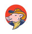 cowboy pig icon vector image
