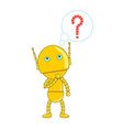cute robot thinking vector image