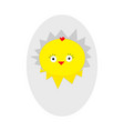 easter baby chicken egg shell crack cute cartoon vector image