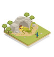 fairy tale isometric composition vector image