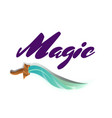 magic fight game element with sword vector image