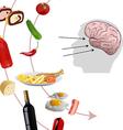 neurogastronomy vector image