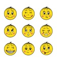 set of yellow emoticons vector image