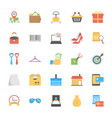 shopping and commerce icons vector image