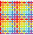 Seamless pattern with intersecting rainbow ribbons vector image vector image
