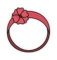 cute female headband icon vector image