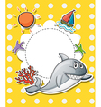 A stationery with a big gray shark vector image vector image
