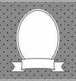 hand drawn decorative frame on grey polka dots vector image