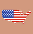 united states of america map with usa flag inside vector image