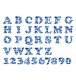 alphabet military blue vector image