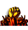 Fist in the air vector image