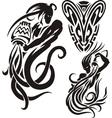 Zodiac Signs - aquarius Vinyl-ready set vector image