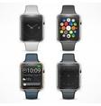 Set of smart watch vector image