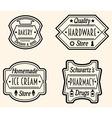 Set of Vintage Badge or Logo Design Elements vector image