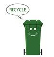 happy recycle bin vector image