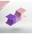 Abstract logo Three colored cube with vector image