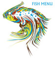 Artistic fish vector image