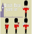 BEEFEATER Guardians set vector image