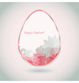 Easter egg pink pale greeting card flower petal vector image