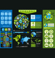 ecological icon set infographics diagram chart vector image